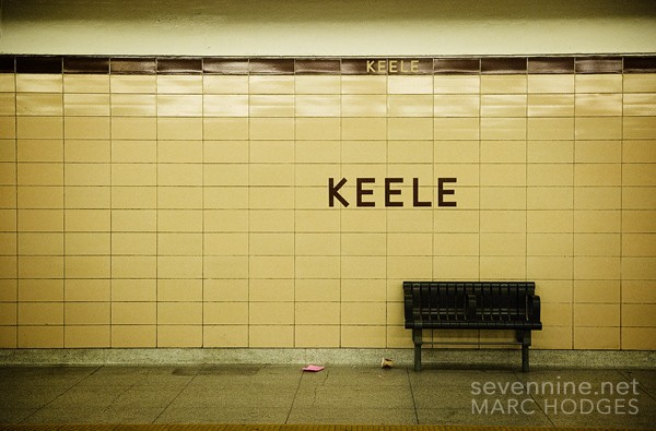 Keele Station Bench