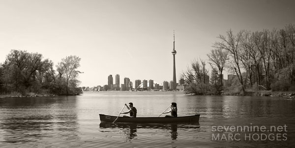 Canoeing Past the Toronto Skyline