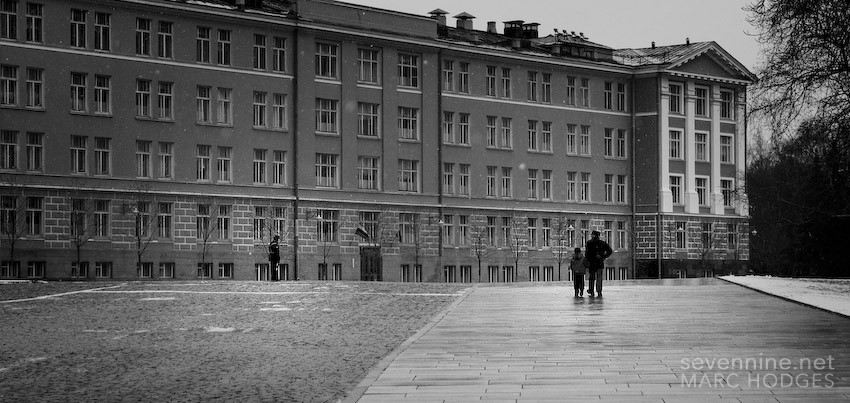 Walking with his Son in the Kremlin