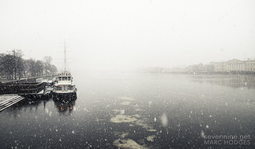 Boat and Snow