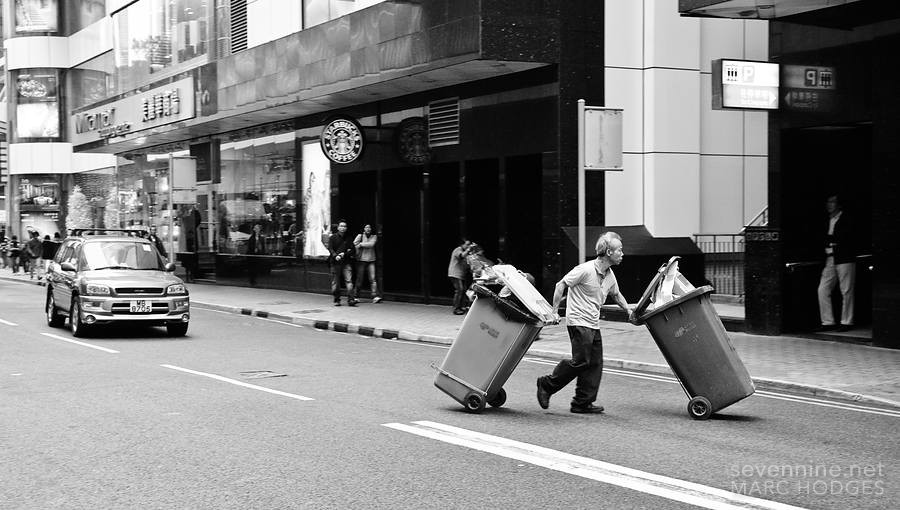 Crossing the Street with Garbage