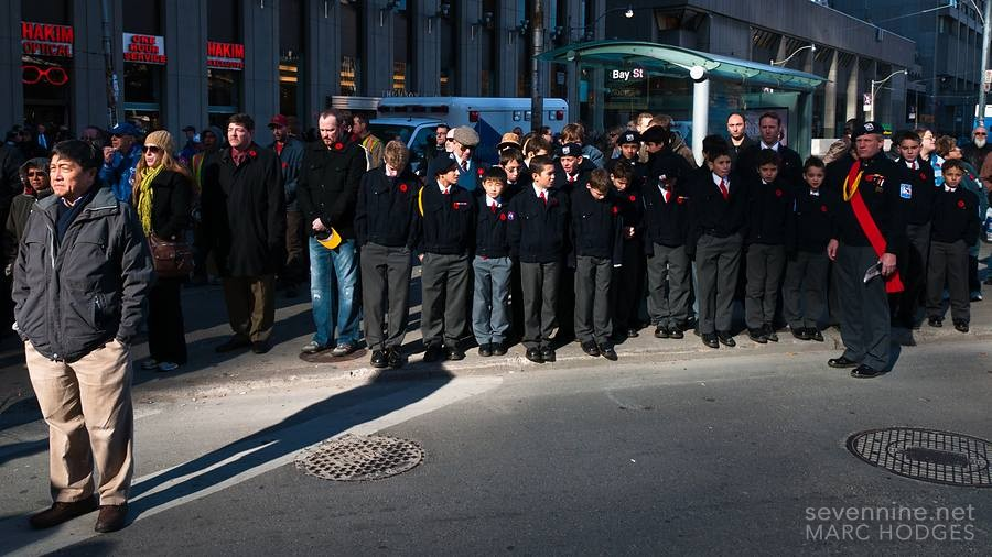 Cadets at Remembrance Day