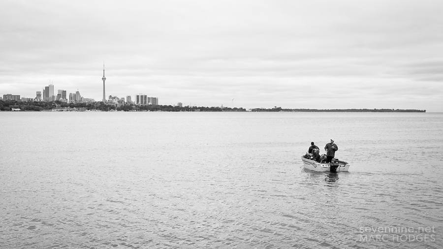 Fishing in Lake Ontario