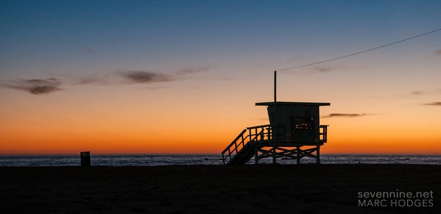 Life Guard Tower Silhouette