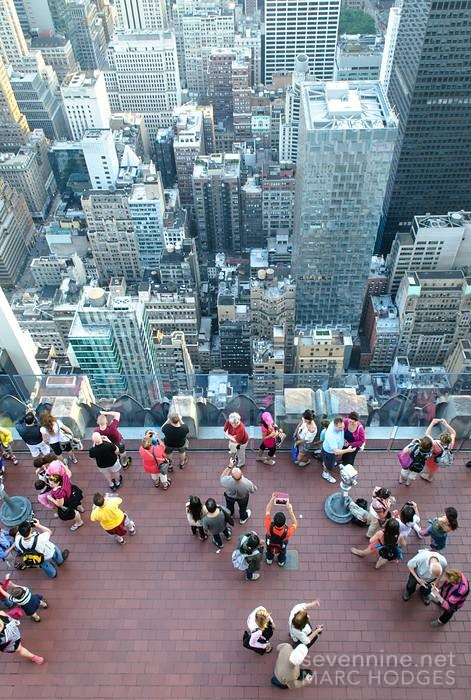 Tourists at Top of the Rock