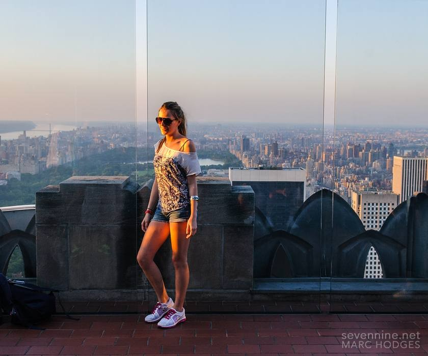 Tourist on Top of the Rock